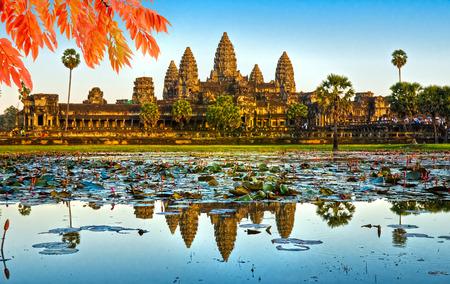 アンコール ワット寺院、シェムリ アップ、カンボジア。