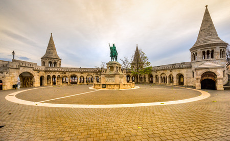 city buildings: Budapest, Fishermans Bastion at sunrise, Hungary Editorial