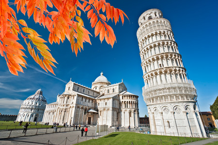 leaning tower of pisa: Pisa,The Leaning Tower. Tuscany, Italy.