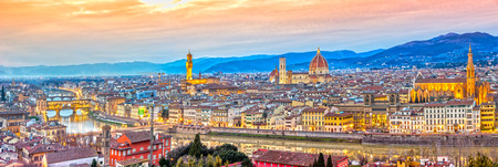 panoramic view: Florence panorama, Tuscany.