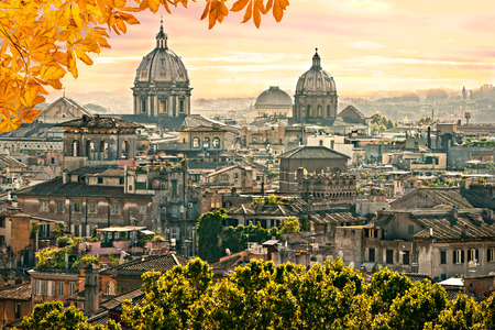 st  peter: Rome, St. Peter and skyline view.Italy.
