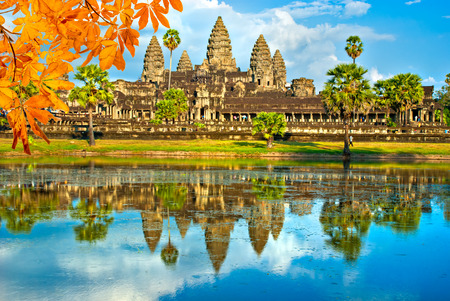 thom: Angkor Wat Temple, Siem reap, Cambodia. Stock Photo