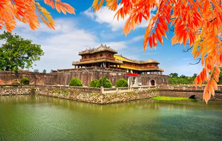 door leaf: Entrance of Citadel, Hue, Vietnam. Unesco World Heritage Site. Editorial