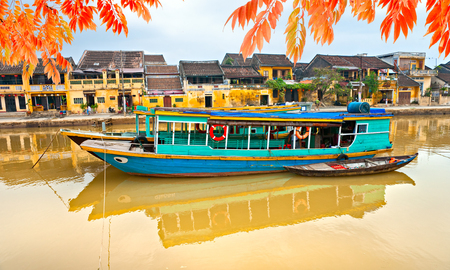 View on the old town of Hoi An. Vietnam. Unesco World Heritage Site.