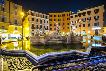 piazza: Rome, View of Piazza Navona. Italy. Stock Photo