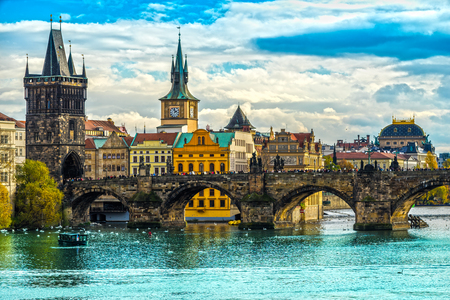 praha: Prague, Charles Bridge and Old Townl. Czech Republic