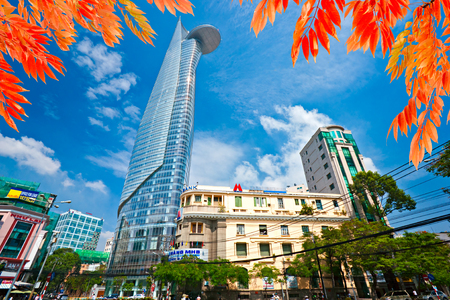 skyscraper skyscrapers: HO CHI MINH CITY - DECEMBER 18: The Bitexco Financial Tower is the tallest building in Vietnam, inaugurated in 30 october 2010. December 18, 2010 in Ho Chi Minh City.