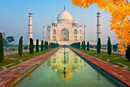 uttar: View of Taj Mahal at sunrise, Agra, Uttar Pradesh, India.