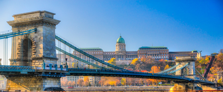 buda: Budapest, Chain Bridge and Buda Castle, Hungary
