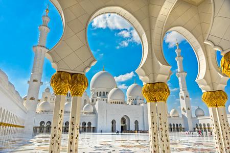 Sheikh Zayed Mosque, Abu Dhabi, United Arab Emirates Stock fotó - 57217648