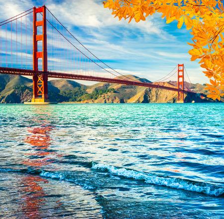golden gate: Golden Gate Bridge, San Francisco, California, USA. Stock Photo