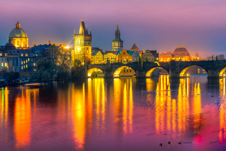 bohemia: Prague, Charles Bridge and Old Townl. Czech Republic
