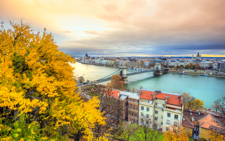 stephen: View of Budapest at sunset, Hungary