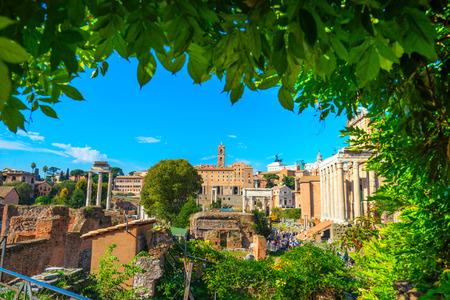 colonnade: Roman Forum. Italy.