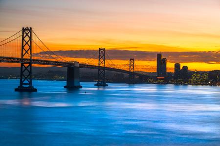 transamerica: San Francisco skyline at night, California, USA.