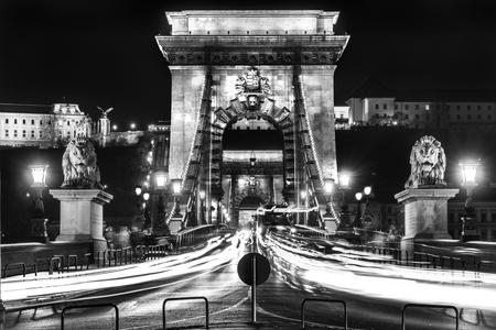 hungary: Budapest, Chain Bridge, Hungary