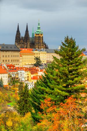 vitus: Prague, The Castle and St. Vitus Cathedral. Czech Republic