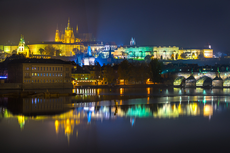 Prague, Charles Bridge and Mala Strana. Czech Republic