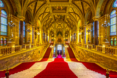 magyar: Interior of Budapest parliament, Hungary