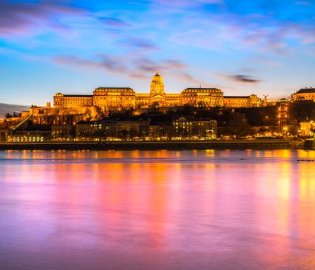 buda: Budapest, Buda Castle at twilight, Hungary