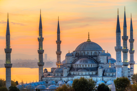 Die Blaue Moschee, Sultanahmet Camii (), Istanbul, Türkei. Standard-Bild