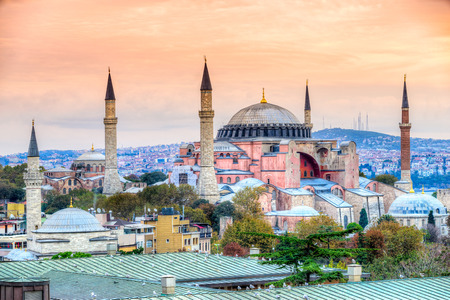 Hagia Sophia in Istanbul. The world famous monument of Byzantine architecture. Turkey.