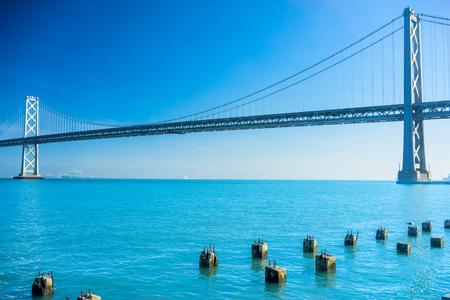 bay bridge: Bay Bridge in San Francisco, California, USA. Stock Photo