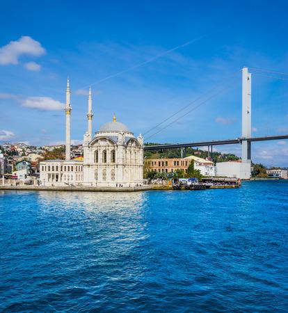 bosphorus: Ortakoy mosque and Bosphorus bridge, Istanbul, Turkey