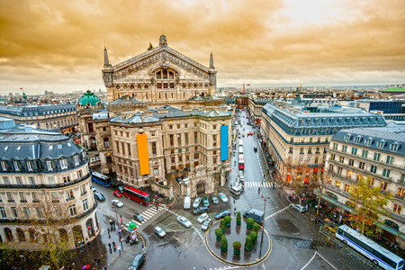 paris france: View of opera Garnier, Paris, France. Editorial