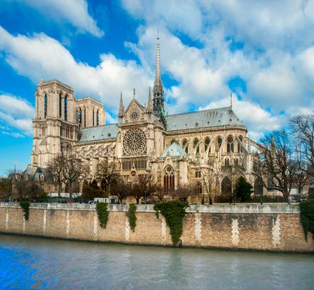 notre dame de paris: Cathedral of Notre dame de Paris, France.