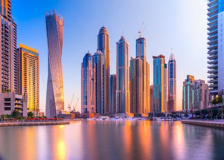두바이 마리나 고층 빌딩입니다. UAE