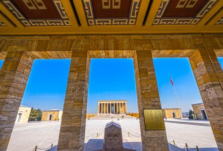 mausoleum: ANKARA, TURKEY - OCTOBER 21, 2016: Anitkabir in Ankara, Turkey. Anitkabir is Mausoleum of Ataturk