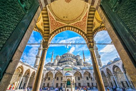 The Blue Mosque, (Sultanahmet Camii), Istanbul, Turkey. 写真素材