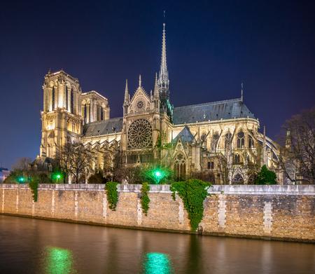 cite: Cathedral of Notre Dame de Paris, France. Stock Photo