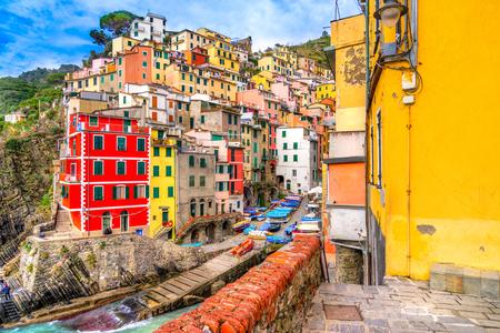 spezia: Riomaggiore village, Cinque Terre National Park, Liguria, Italy.