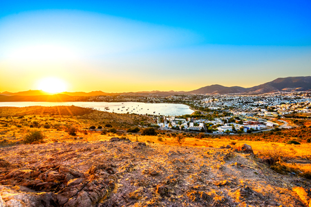 View of Gumbet, Bodrum, Turkey