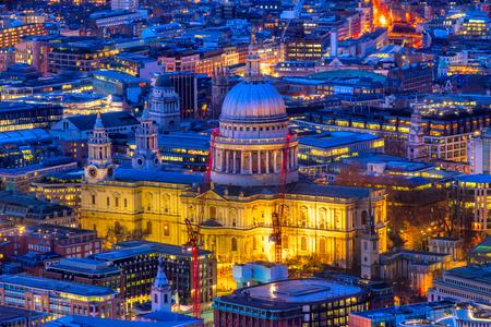 St. Pauls cathedral at dusk, London, UK Stock Photo