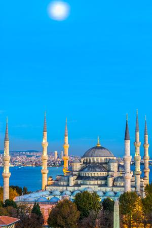 ブルー モスク、(スルタンアフメット Camii)、イスタンブール、トルコ。