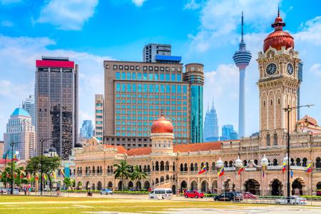 Kuala Lumpur, Malezja. Budynek sułtana Abdula Samada na placu Merdeka.