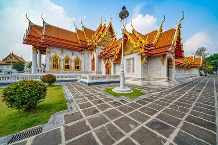 Wat Benchamabophit Dusitvanaram Rajawarawiharn - Marble Temple. A major attraction of Bangkok, Thailand