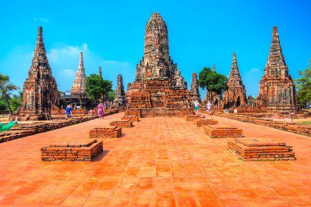 Wat Chaiwatthanaram, Ayutthaya historical park.  Bangkok province, Thailand
