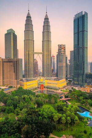 Kuala Lumpur, Malaysia. The Twin Towers and Park