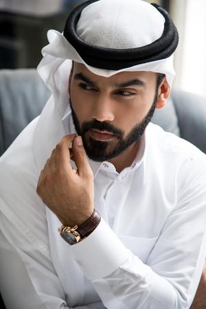 Arab Businessman Portrait ( Confident Successful Attitude) Stock Photo
