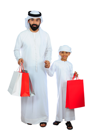 Arabic Family Stock Photo
