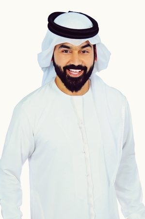 Arab Man Portrait  ( Happy Proud )