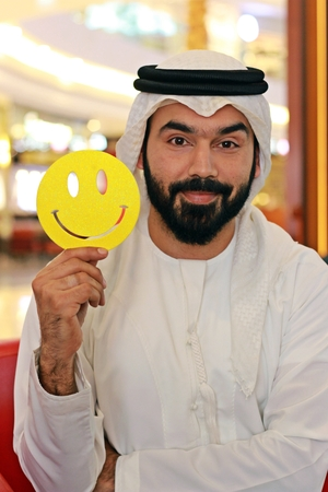 Happy Positive Smiley Arab Man