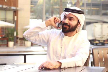 Arab Business Man Speaking In Phone