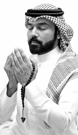 A Muslim Arab Man Praying In The Month Of Ramadan Stock Photo