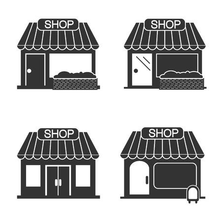 headquarter: Shop icons set.