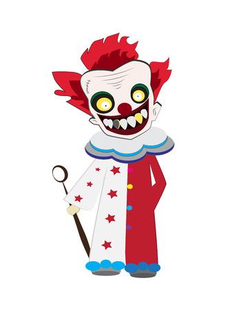 payasos caricatura: vector de la historieta del payaso para la fiesta de Halloween y noticias ilustradas. Vectores